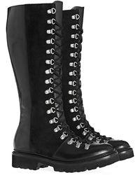 Grenson Nanette Knee High Boots - Black