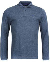 Barbour Sports Long Sleeve Polo Shirt - Blue