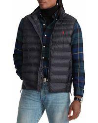 Polo Ralph Lauren Packable Quilted Vest Gilet - Black