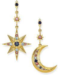 Thomas Sabo Earrings Royalty Star and Moon - Metallizzato