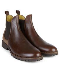 Le Chameau Bottes Jameson Chelsea Leather - Marron