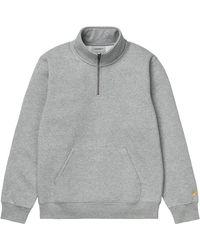 Carhartt WIP Carhartt Chase Neck Zip Jumper - Grey