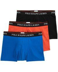 Polo Ralph Lauren Caleçons Classic Stretch Cotton Trunk 3-Pack - Multicolore