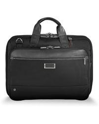 Briggs And Riley Medium Expandable Briefcase - Black