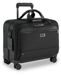 Briggs And Riley Large Spinner Briefcase - Black