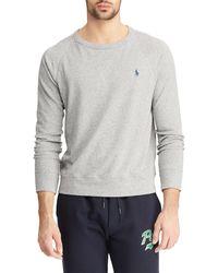 Polo Ralph Lauren Cotton Spa Terry Pullover - Grau