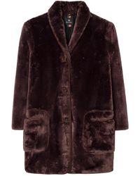 Paul Smith Veste Faux Fur Short - Marron
