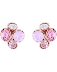 Ted Baker Lynda Jewel Cluster Stud Earrings - Pink