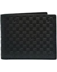 GANT Leather Signature Weave Wallet - Black