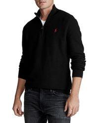 Polo Ralph Lauren Cotton Quarter-Zip Pullover - Schwarz