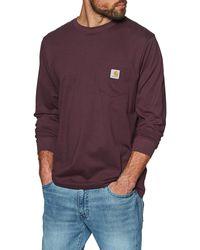 Carhartt WIP Carhartt Pocket Long Sleeve T-shirt - Purple