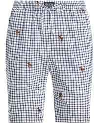Polo Ralph Lauren Woven Cotton Sleep Short Schlafanzüge - Blau