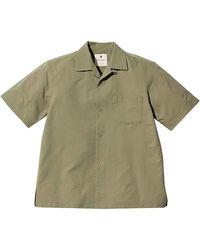 Snow Peak T-Shirt a Manica Corta Quick Dry Aloha - Verde