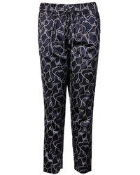 GANT Ocean Safari Rope Printed Ladies Pants - Blue