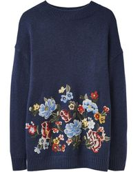 3f5d17fc831 Joules Nell Cable Knit Jumper in Natural - Lyst