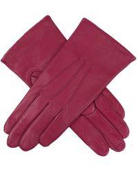 Dents Jessica Classic Imipec Leather Ladies Glove - Purple