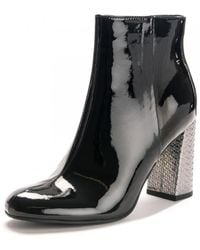 Tommy Hilfiger Elevated Patent High Boots - Black