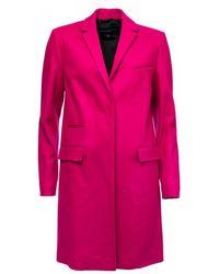 French Connection Platform Felt Smart Coat - Pink