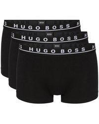 BOSS Athleisure Boss Triple Pack Cotton Boxer Briefs - Black