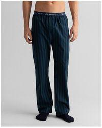 GANT Stripe Pyjama Pants - Blue