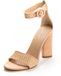 62ef20eed Kendall + Kylie - Giselle Nude Womens Sandal Heels - Lyst