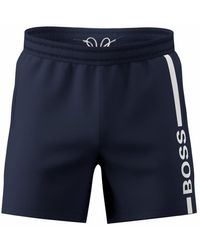 BOSS by HUGO BOSS Dolphin Quick Dry Swim Shorts - Blue