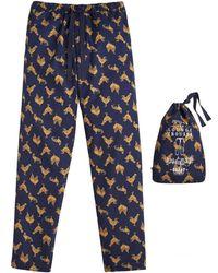 Joules - Sleeper Printed Mens Lounge Trouser (z) - Lyst