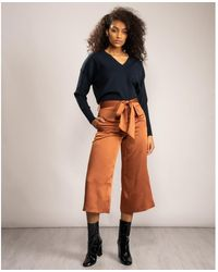 Ted Baker Tie Waist Culottes - Brown