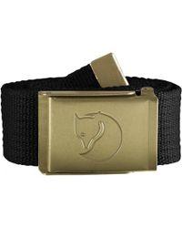 Fjallraven Canvas Brass Mens Belt - Black
