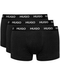 BOSS by HUGO BOSS Three Pack Stretch-jersey Trunks - Black
