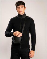 Belstaff Kelby Black Merino Knit Zip Cardigan