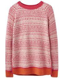 Joules Justina Fairisle Hem Sweater (z) - Multicolor