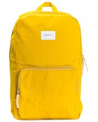 Sandqvist Kim Yellow With Natural Leather