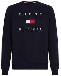 Tommy Hilfiger Tommy Flag Hilfiger Heavyweight Knit - Blue