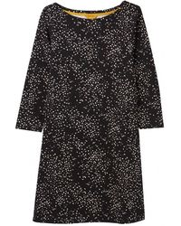 Joules Allie Womens Swing Jersey Dress With Pockets A/w - Black