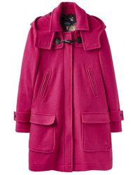 Joules Woolsdale Double Faced Duffle Coat Half Lined (z) - Multicolour