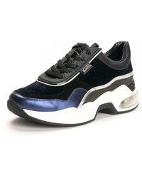 Karl Lagerfeld Ventura Lazare Velvet Lace Shoes (trainers) - Blue