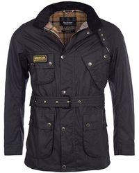 Barbour Slim International Wax Jacket - Black