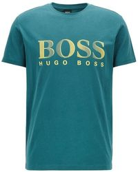 BOSS by Hugo Boss T-shirt Rn Logo - Green