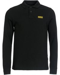 Barbour Long Sleeve Polo Shirt - Black