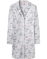 Joules Verity Womens Printed Nightshirt S/s - Gray