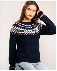 Joules Knitted Fairisle Jumper - Blue