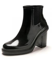 HUNTER Original Refined High Heel Chelsea Ladies Boot - Black
