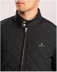 GANT D1. The Quilted Windcheater Jacket - Black