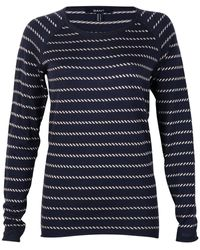GANT Ocean Safari Sailor Stripe Ladies Sweater - Blue