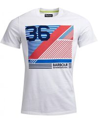 3ca23ed1 KENZO Distorted Logo Tee in White for Men - Lyst