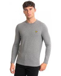 Lyle & Scott Cotton Merino Crew Sweater - Grey