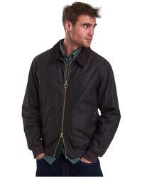 Barbour Advection Mens Wax Jacket - Black