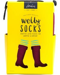 Joules Womens Fleece Welly Liners A/w - Multicolour