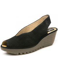 Fly London Yazu736fly Cupido Shoes - Black